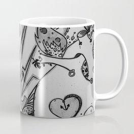 Plug Me In v.1 Black & White  Coffee Mug