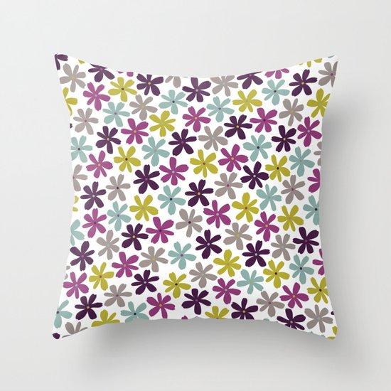 Allium Ditsy Throw Pillow