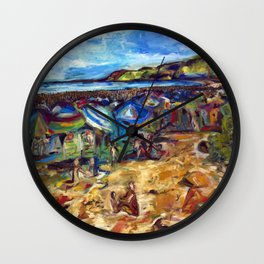 """Ogunquit Beach"" Wall Clock"