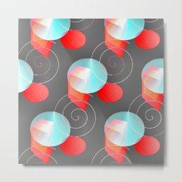 Bright Geometry Metal Print