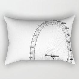 Ferris Wheel (Black and White) Rectangular Pillow