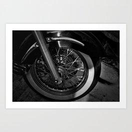 Motorcycle Wheel Art Print