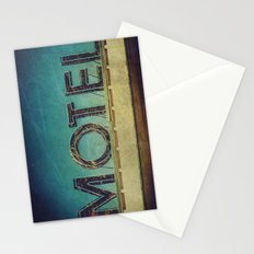 Grunge Motel Sign Stationery Cards
