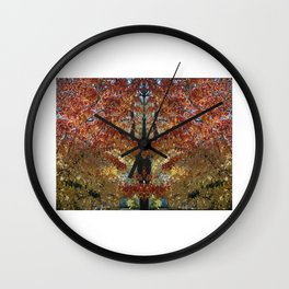 Rubies and Gold Wall Clock