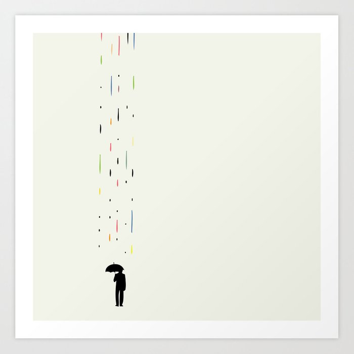 Sunday's Society6   Rain art print