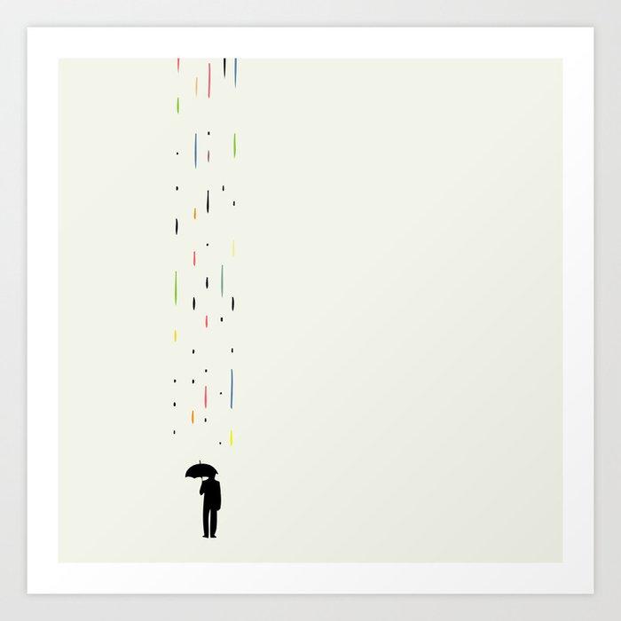 Mr Rain Art Print