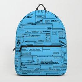 Designer Dialogues PS Blue Backpack