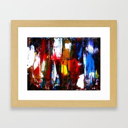 Coney Island (Part 2) acrylics on stretched canvas  Framed Art Print
