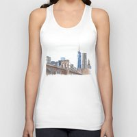 brooklyn bridge Tank Tops featuring Brooklyn Bridge by Christina Brunnock