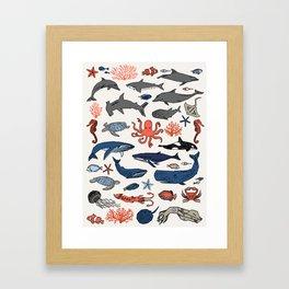 Ocean Animals  Framed Art Print