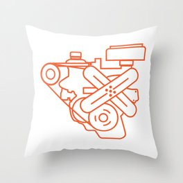 Minimalist Slant Six Engine Throw Pillow