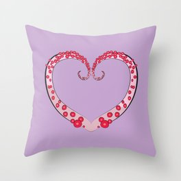 Tentacle Valentine Throw Pillow