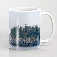 maine Mugs featuring Maine by katharine stackhouse