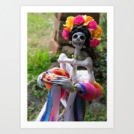 Day of the dead: Enchiladas a la Frida Art Print