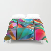 data Duvet Covers featuring big data strategy puzzle by donphil