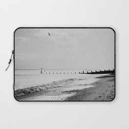 black and white Southwold beach photograph Laptop Sleeve