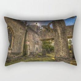 Sunset church Rectangular Pillow