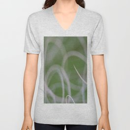Abstract Image of Green Palm Leaves  Unisex V-Neck