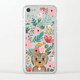 Yorkie Clear iPhone Case