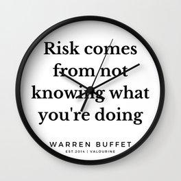 7   | Warren Buffett Quotes | 190823 Wall Clock