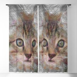 Artistic Animal Kitten 3 Blackout Curtain