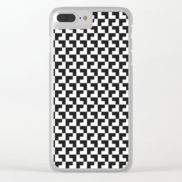 Black and White Tessellation Pattern - Graphic Design Clear iPhone Case
