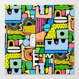 Color Block Collage Canvas Print