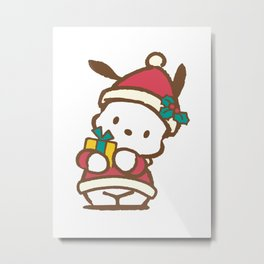 It's Christmas for Pochaco Sanrio 2 Metal Print