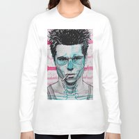 tyler spangler Long Sleeve T-shirts featuring Tyler Durden by Bronsolo Illustration