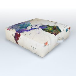 map Outdoor Floor Cushion