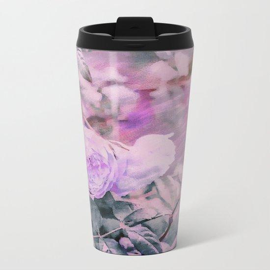 Romantic Rose Soft Pastel Colors Metal Travel Mug