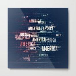 America Typographic Design Metal Print