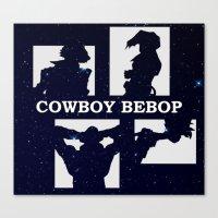 cowboy bebop Canvas Prints featuring Cowboy Bebop | Stars by Paul Johnson