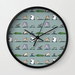 Animal Yoga Wall Clock