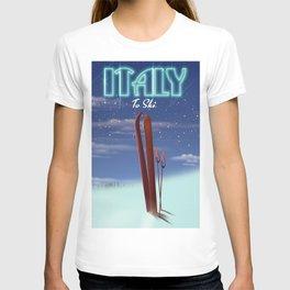 Italy 'Ice' Ski travel poster T-shirt