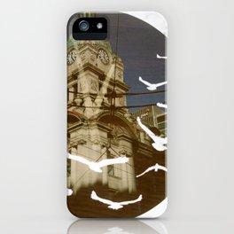 Clock Tower Birds iPhone Case