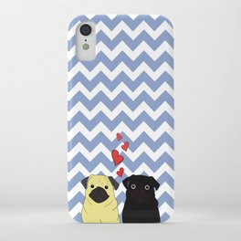 Chevron Pug iPhone Case