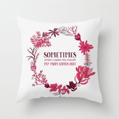 My Mom Comes Out Throw Pillow