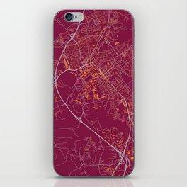 BLACKSBURG VIRGINIA COLLEGIATE MAP HANDRAWN iPhone Skin