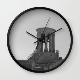 Old Bell Tower BW  Wall Clock