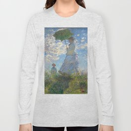 Monet - Madame Monet and Her Son - 1875 Long Sleeve T-shirt