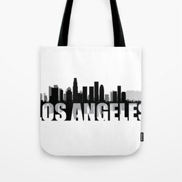 Los Angeles Silhouette Skyline Tote Bag