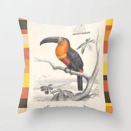 Toucan Bird Responsible Travel Art Throw Pillow