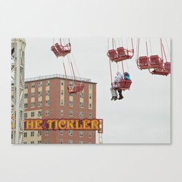 Two Girls in Coney Island Canvas Print