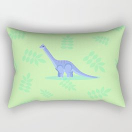 Brontosaurus, There When You Can't Reach the Shelf Above the Fridge Rectangular Pillow