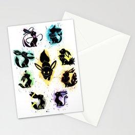 Eeveelution Splash Silhouette Stationery Cards