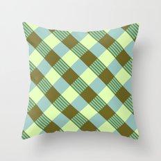 Retro Plaid Throw Pillow