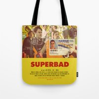 greg guillemin Tote Bags featuring Superbad - Greg Mottola by Smart Store