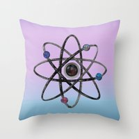 physics Throw Pillows featuring Physics by IvanaW