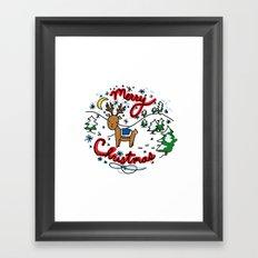 Reindeer Fun Framed Art Print